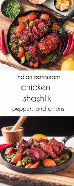 shashlik Restaurant style chicken shashlik explodes with Indian flavours.Restaurant style chicken shashlik explodes with Indian flavours. Best Indian Recipes, Asian Recipes, Spicy Recipes, Ethnic Recipes, Healthy Chicken Recipes, Cooking Recipes, Cooking Tips, Healthy Snacks, Indian Cuisine