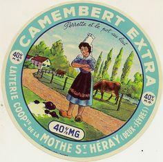 CAMEMBERT - LAITERIE DE LA COOPERATIVE DE LA MOTHE ST HERAY - Perrette et le pot au lait (Deux-Sèvres)