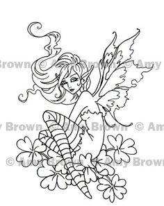SET of 2 FAIRIES Digital Downloads by Amy Brown Coloring Prints