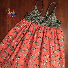 Infant to girls safari zebra dress by SewSisterlyCreations on Etsy