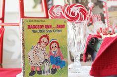 Raggedy Ann 1st Birthday Party on Kara's Party Ideas! SO cute! www.KarasPartyIdeas.com
