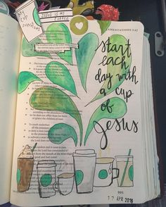 Lamentations -- The steadfast love of the Lord never ceases; his mercies never come to an end; they are new every morning; great is your faithfulness. Bible Journaling For Beginners, Bible Study Journal, Scripture Study, Art Journaling, Bible Notes, My Bible, Bible Art, Bible Drawing, Bible Doodling