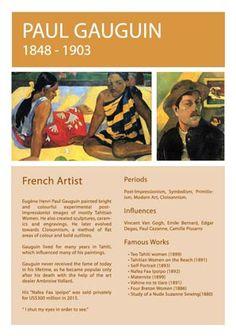 Paul Gauguin Info Sheet
