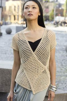 Ravelry: Tokyo Vest pattern by Doris Chan, Tunisian Crochet Gilet Crochet, Crochet Vest Pattern, Crochet Woman, Tunisian Crochet, Crochet Cardigan, Knit Or Crochet, Crochet Shawl, Free Pattern, Knitting Patterns