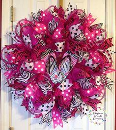 Flip Flop Summer Deco Mesh Wreath by VirginiaWreathCo on Etsy, $85.00