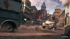Uncharted 4 Car Chase, Nick Gindraux on ArtStation at https://www.artstation.com/artwork/gwn3P
