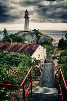 ~ Point Atkinson Lighthouse, Vancouver Harbour, British Columbia, Canada ~