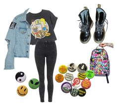 """Untitled #36"" by vintagethread-s on Polyvore featuring Dr. Martens, Tokidoki and Topshop"