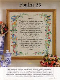 He Leadeth Me, Just Cross Stitch, Lord Is My Shepherd, A Table, Symbols, Embroidery, Frame, Shabby, Crafts