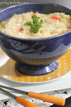 Cheesy Chicken and Rice Soup-- OMG this soup rocks! This is a KEEPER for sure! Great flavor. Made 12-22-13