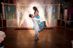 Make your first dance memorable with sparkle fountains on the dance floor.  We can customize indoor pyro even for small spaces.