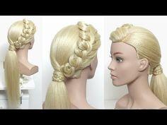 Fancy Low Pony Hairstyle For Long Hair Low Pony Hairstyles, Fancy Hairstyles, Winter Hairstyles, Different Hairstyles, Braided Hairstyles, Burlesque Hair, Mermaid Braid, Simple Prom Hair, Homecoming Hairstyles