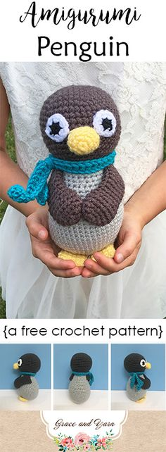Meet Penn the Penguin, a great stocking stuffer and fast crochet project. Pattern is free and includes a full photo tutorial, great for beginners!