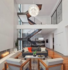 Livingroom - Modern House in Chicago