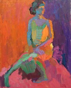 Larisa Aukon Girlfriend 2, 16x12 oil www.aukonlarisa.com