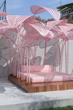 Designer Marc Ange has recently launched 'Le Refuge', an outdoor sun lounger, for The Invisible Collection in collaboration with The Green Gallery. Exterior Design, Interior And Exterior, Daybed Design, Sun Lounger, Furniture Design, Furniture Chairs, Garden Furniture, Furniture Plans, Kids Furniture