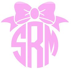 Circle Monogram with Bow by PeachPerfectDesign on Etsy, $2.50