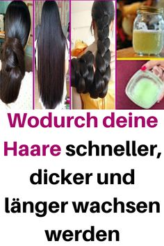 What makes your hair grow faster, thicker and longer .- Wodurch deine Haare schneller, dicker und länger wachsen werden Which will make your hair grow faster, thicker and longer - Castor Oil Hair Treatment, Prevent Grey Hair, Homemade Dry Shampoo, Hair Boost, How To Grow Eyelashes, Long Hair Tips, Light Hair, Beauty Recipe, Hair Tips