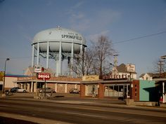 East Main Street Water Tower National Road Springfield Ohio Clark County