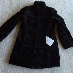 "Selling this "" Deep Black Lamb Coat with Pockets  - WARM!"" in my Poshmark closet! My username is: bikerchick64. #shopmycloset #poshmark #fashion #shopping #style #forsale #Yansi Fugal #Outerwear"