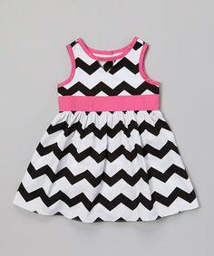 Another great find on #zulily! Black & White Zigzag Dress - Infant & Toddler #zulilyfinds