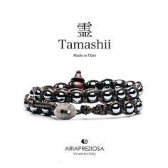 Tamashii - Bracciale Lungo Tradizionale Tibetano 2 giri Ematite