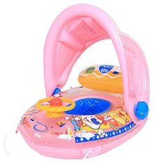 Sunshade Baby Float Boat Seat Adjustable Water Inflatable Swim Pool Ring >>> Details can be found by clicking on the image.Note:It is affiliate link to Amazon.