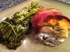 Low Carb - Mushroom Ricotta Stuffed Chicken wrapped in Bacon