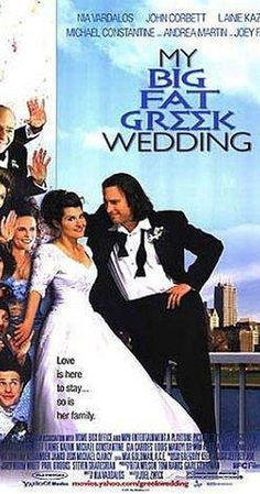 Directed by Joel Zwick.  With Nia Vardalos, John Corbett, Michael Constantine, Christina Eleusiniotis. A young Greek woman falls in love with a non-Greek and struggles to get her family to accept him while she comes to terms with her heritage and cultural identity.