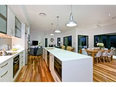 The Kitchen. Spotted gum timber floors in the living areas.