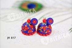 Fully hand made polymer clay jhumka Hrithika The Clay Boutique