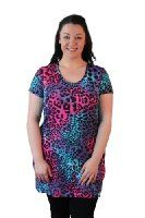 Nouvelle Womens Top Plus Size Ladies Animal Neon Summer Print Tunic Party Dress Nouvelle: Amazon.co.uk: Clothing