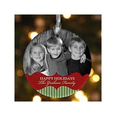 Personalized Photo Christmas Ornaments - Classic Holiday