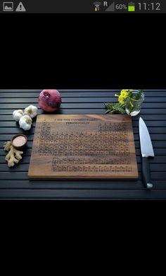 Geek periodic table chopping board chemistry gift science gift periodic table cutting board urtaz Images