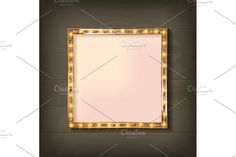 2 Square glowing frame by nastyaaroma on @creativemarket