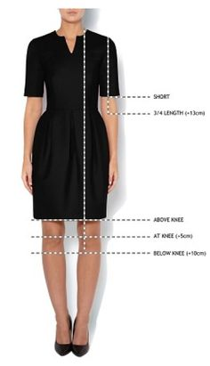 You now customise your Michaela Jedinak dress by choosing your favourite hemline and sleeve length. You can choose now from above the knee, at knee and below the knee as well from short sleeve to 3/4 sleeve. More info here- simply choose the dress of your liking and you will see the customasation options: