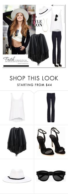 """""""Black & White"""" by tjlillian ❤ liked on Polyvore featuring rag & bone, MiH Jeans, WithChic, Polo Ralph Lauren, Forte Forte, Yves Saint Laurent, Diamonds Unleashed, white, black and ootd"""