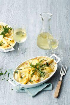Kartoffel-Spargel-Gratin - Wenn Kartoffeln und Spargel cremig überbacken aus dem Backofen kommen, können wir einfach nicht widerstehen. Ihr etwa?