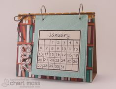 the Lawn Fawn blog: Lawn Clippings Video {10.9.12}Desk top calendar