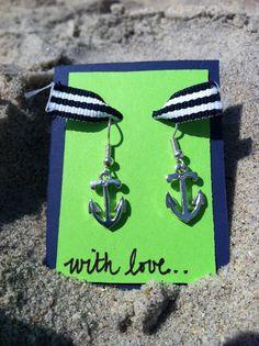 Anchor Earrings. $6.00, via Etsy.