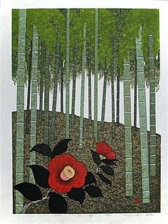 Kazuyuki Ohtsu, Red Camellia - kind of powerful in some way. Love the bamboo forest too.