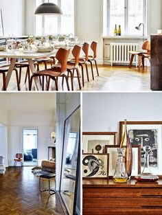 This is the home of Evelina Kravaev-Söderberg, Head of Design for H&M Home. Evelina's 1920 era home, located in central Stockholm, is simple while sophisticated, and very trendy even if it mixes old and new pieces. While her designs for H&M Home may be full of color and eclectic style, her home is a tranquil...