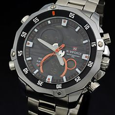 d49b177dbbb  Men Full Steel Watch Fashion Quartz Analog Digital LED Watch Men Sports  Watch Top Men