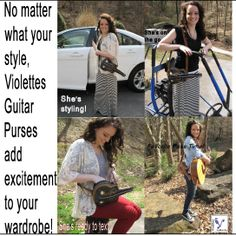 No matter your guitar brands, a unique birthday present is this cute Guitar Purse by ViolettesbyBecky.com #birthdaypresents #guitarbrands