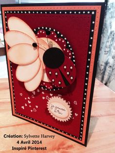 Punch art stampin up. Lady Bug's card