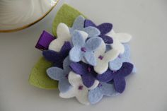 Hydrangea hair clip for babies/toddlers. Be still my heart! My favorite flower.