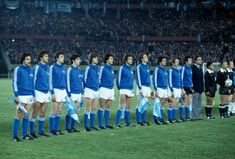 Italy team line up at the 1978 World Cup Finals. Italy Team, World Cup Match, World Cup Final, National Anthem, Team Photos, Fifa World Cup, Still Image, Football Team, Lineup