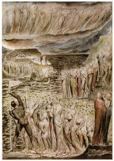 """Illustration by William Blake for Dante's """"Divine Comedy"""". Blake received the commission In 1826."""