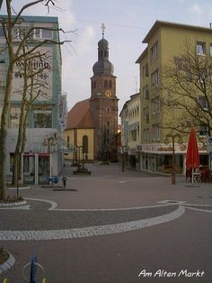 Husterhoeh Kaserne Pirmasens Germany   HAUPTSTRASSE LUTHER KIRCHE we could see it plainly from our apartment, listened to it chime as we fell asleep