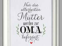 """""""MAMA und OMA"""" Kunstdruck, Muttertag Geschenk"""